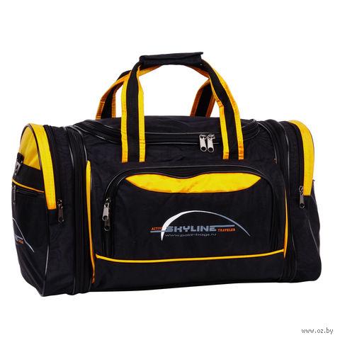 Сумка спортивная 6067-2 (38 л; чёрно-жёлтая) — фото, картинка