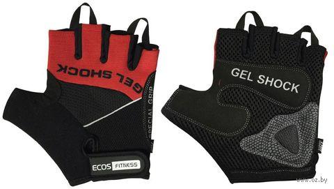 Перчатки для фитнеса 2117-RМ (М; чёрно-красные) — фото, картинка