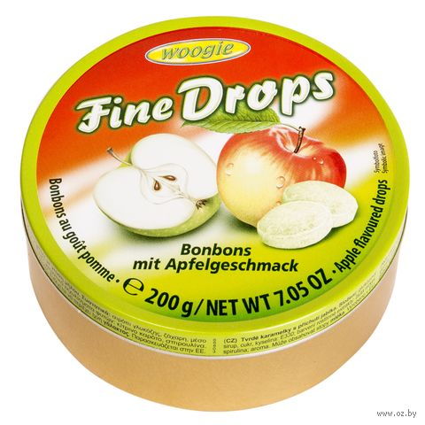 "Карамель леденцовая ""Fine Drops. Со вкусом яблока"" (200 г) — фото, картинка"