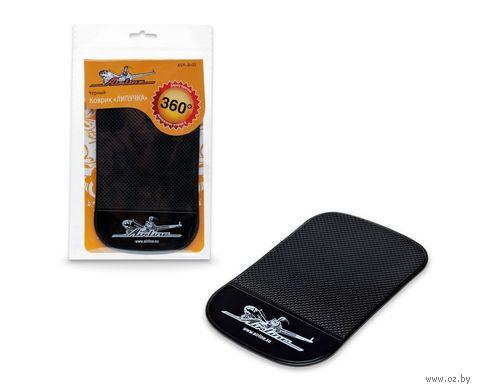 Коврик-липучка для мобильных устройств (92х145 мм; чёрный; арт. ASM-B-01) — фото, картинка