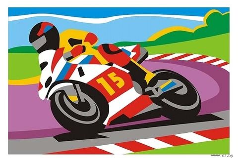 "Картина по номерам ""Спортивный мотоцикл"" (200х300 мм) — фото, картинка"