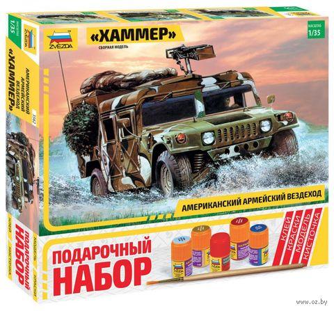 """Сборная модель """"Американский армейский вездеход """"Хаммер"""" (масштаб: 1/35; подарочный набор) — фото, картинка"""