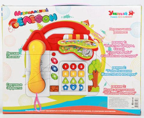 """Развивающая игрушка """"Музыкальный Телефон"""" (с обучающими карточками) — фото, картинка"""