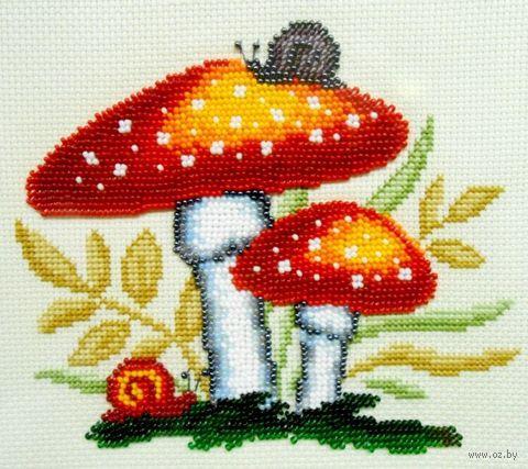 "Набор для вышивания ""Мухоморы"" (170x150 мм) — фото, картинка"