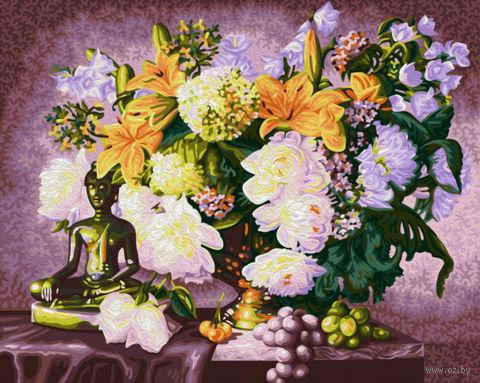 "Картина по номерам ""Натюрморт с Буддой"" (400х500 мм) — фото, картинка"