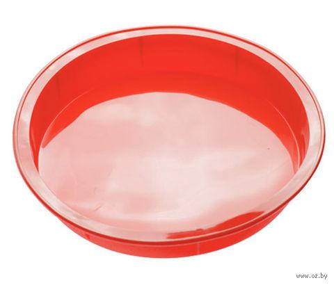 Форма для выпекания силиконовая (240x40 мм; красная) — фото, картинка