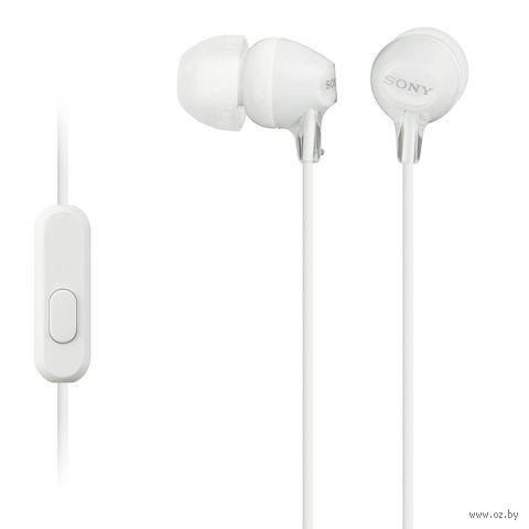 Гарнитура Sony MDR-EX15APW (белая) — фото, картинка