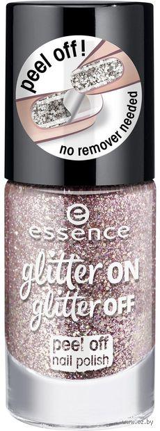 "Лак для ногтей ""Glitter On Glitter Off"" тон: 02 — фото, картинка"