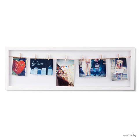 """Держатель для фотографий """"Clothesline"""" (белый) — фото, картинка"""