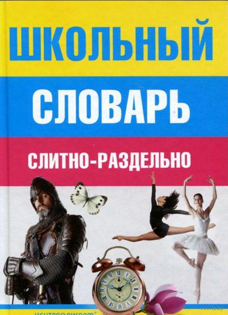 Школьный словарь слитно-раздельно. И.  Мудрова