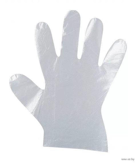 Перчатки одноразовые полиэтиленовые (M; 50 пар) — фото, картинка