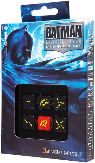 """Набор кубиков """"Batman Miniature Game"""" (6 шт.; черный) — фото, картинка"""