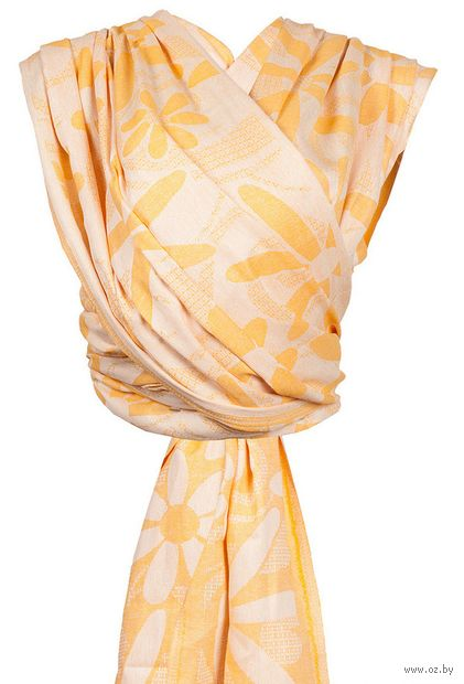 "Слинг-шарф ""Маргарита"" (жёлтый) — фото, картинка"