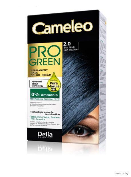 """Краска для волос """"Cameleo Pro Green"""" (тон: 2.0, сине-черный) — фото, картинка"""