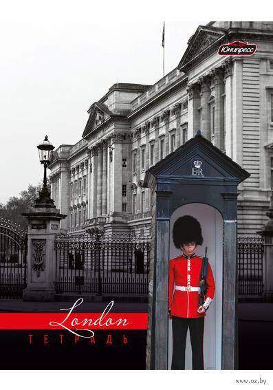 """Тетрадь в клетку """"Лондон серый"""" 48 листов"""