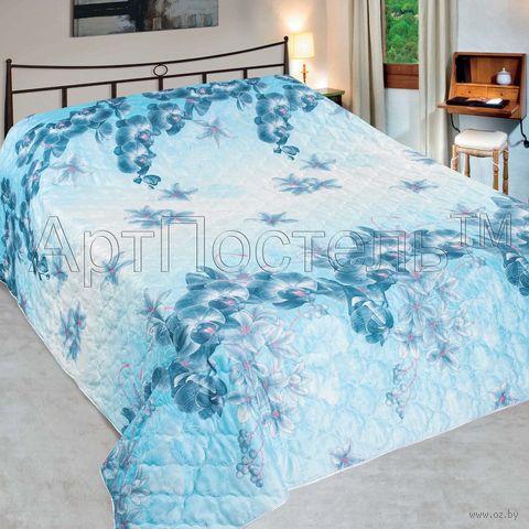 """Покрывало стеганое """"Орхидея"""" (150х215 см) — фото, картинка"""