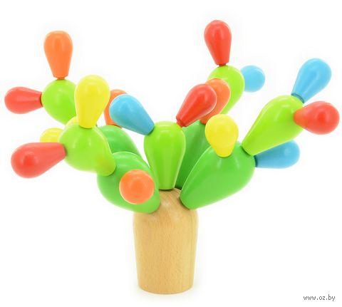 """Деревянная игрушка """"Балансирующий кактус"""" — фото, картинка"""