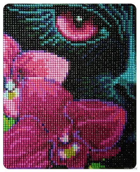 """Алмазная вышивка-мозаика """"Лиловый взгляд"""" (170х210 мм) — фото, картинка"""