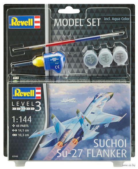 """Сборная модель """"Истребитель Suchoi Su-27 Flanker"""" (масштаб: 1/144) — фото, картинка"""