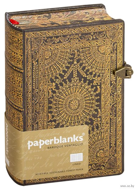"Записная книжка Paperblanks ""Вентальо Марроне"" в линейку (формат: 100*140 мм, мини)"