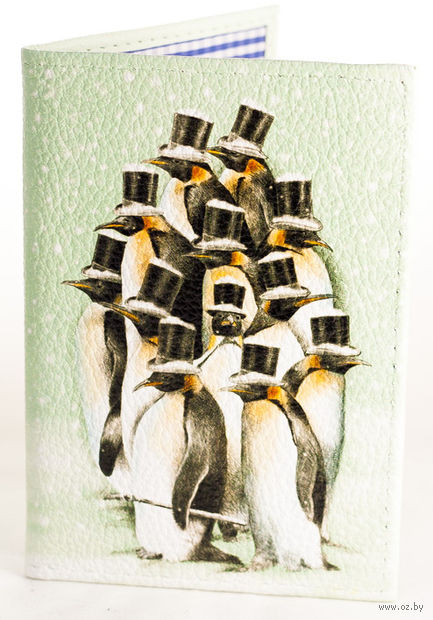 """Обложка на паспорт """"Пингвинчики"""""""
