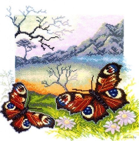 "Вышивка крестом ""Бабочка. Павлиний глаз"""