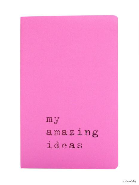 """Записная книжка Молескин """"Volant. My Amazing Ideas"""" нелинованная (карманная; мягкая светло-розовая обложка)"""