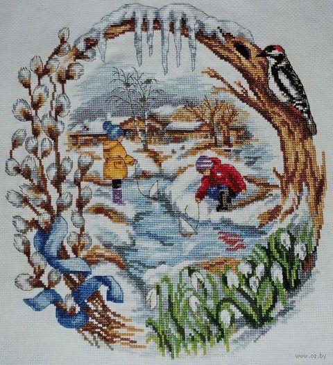 "Вышивка крестом ""Весенний ручеек"" (240x260 мм) — фото, картинка"