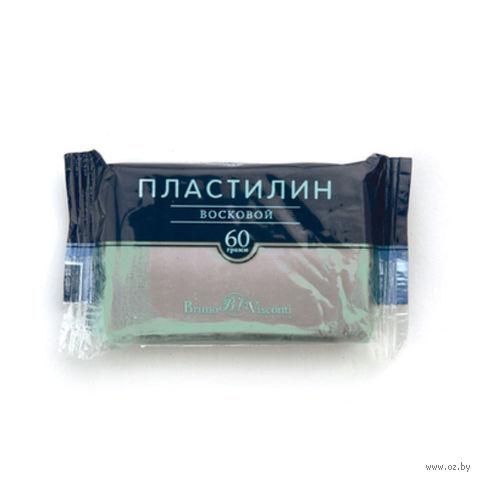 Пластилин восковой (60 г; серый) — фото, картинка
