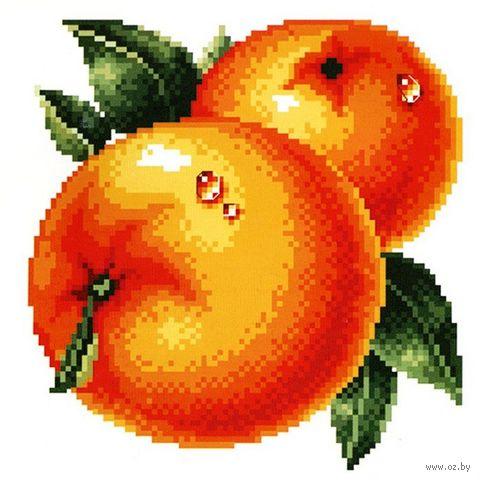 """Вышивка крестом """"Сочные апельсины"""" (145x150 мм) — фото, картинка"""