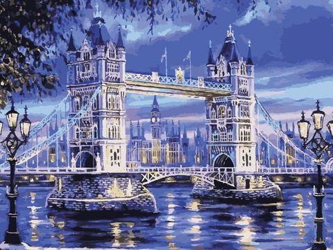 """Картина по номерам """"Лондонская ночь"""" (400х500 мм) — фото, картинка"""