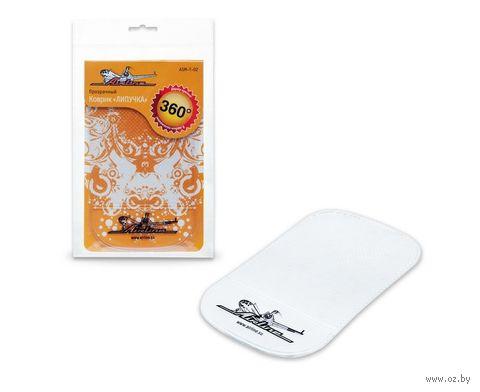 Коврик-липучка для мобильных устройств (92х145 мм; прозрачный; арт. ASM-T-02) — фото, картинка