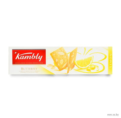"""Печенье """"Kambly. C лимоном и миндалем"""" (100 г) — фото, картинка"""