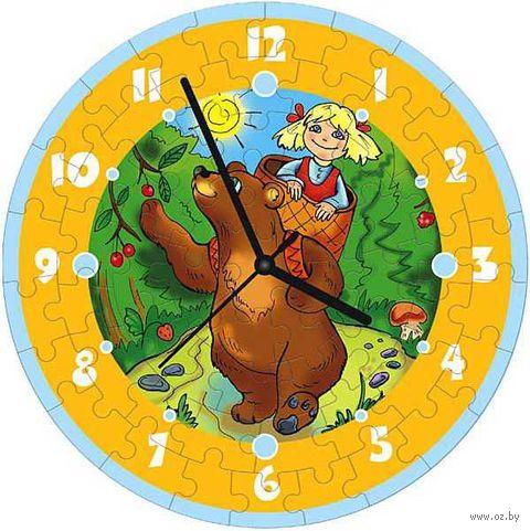 """Пазл-часы """"Маша и медведь"""""""