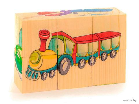 """Кубики """"Транспорт"""" (6 шт.; арт. Д488а) — фото, картинка"""