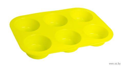 Форма силиконовая для выпекания кексов (260x175x30 мм; зеленый) — фото, картинка