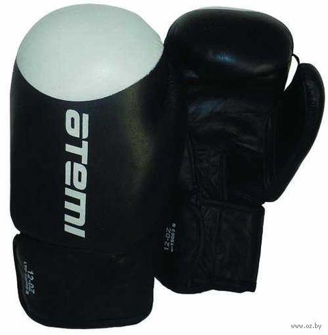 Перчатки боксёрские LTB19009 (12 унций; чёрно-белые) — фото, картинка