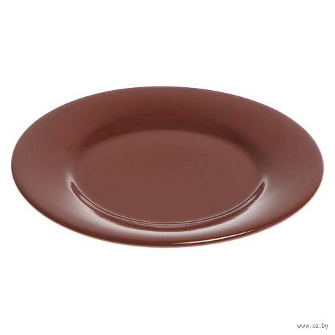 Тарелка керамическая (198 мм; шоколад) — фото, картинка