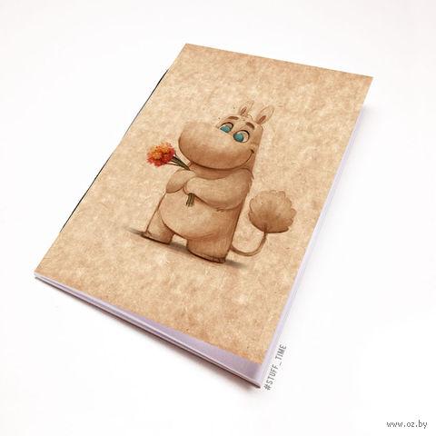 "Блокнот крафт ""Муми-тролль"" (А7; арт. 969) — фото, картинка"