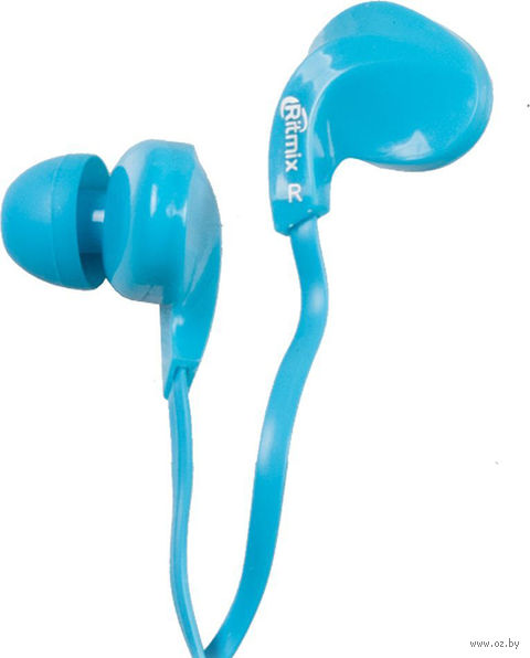 Наушники Ritmix RH-025 (голубые) — фото, картинка