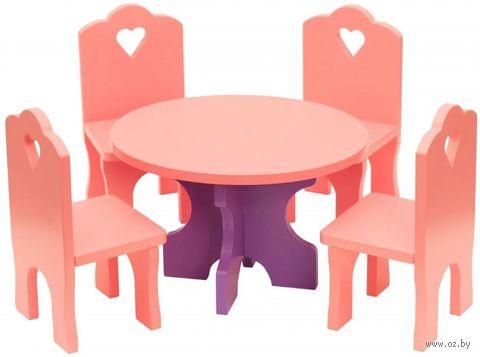 """Набор мебели для кукол """"Столик с четырьмя стульчиками"""" — фото, картинка"""