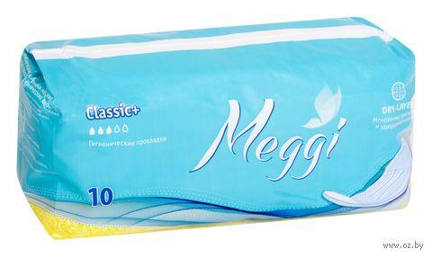 """Гигиенические прокладки """"Meggi Classic+"""" (10 шт.) — фото, картинка"""