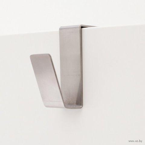 """Крючок металлический на дверь """"I-hook"""" (матовая сталь; белый)"""