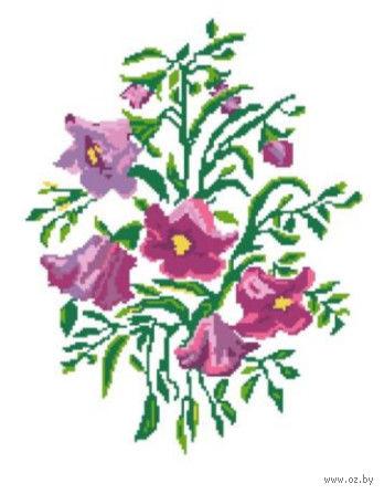 """Вышивка крестом """"Розовые колокольчики"""" (210x300 мм) — фото, картинка"""