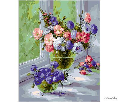 """Картина по номерам """"Две вазы"""" (400x500 мм)"""