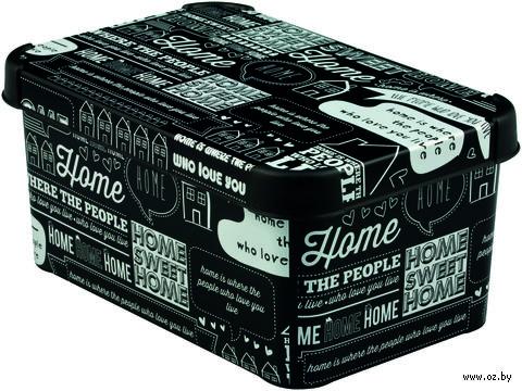 """Коробка для хранения """"Home white and black"""" (295х195х135 мм)"""