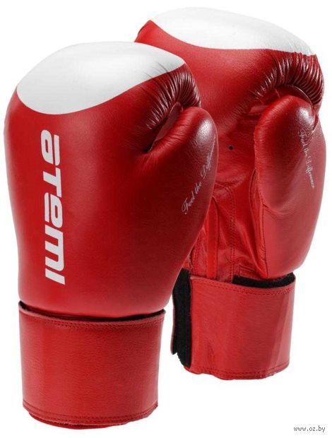 Перчатки боксёрские LTB19009 (10 унций; красно-белые/мишень) — фото, картинка
