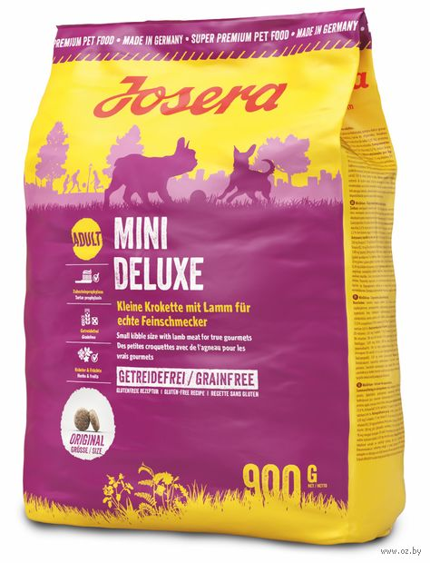 """Корм сухой для собак """"Mini Deluxe"""" (0,9 кг; ягненок и овощи) — фото, картинка"""