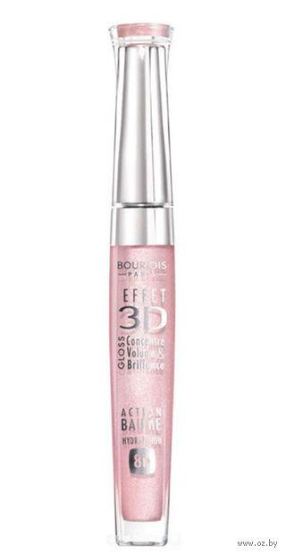 """Блеск для губ """"Effet 3D"""" тон: 29, светло-розовый космический — фото, картинка"""