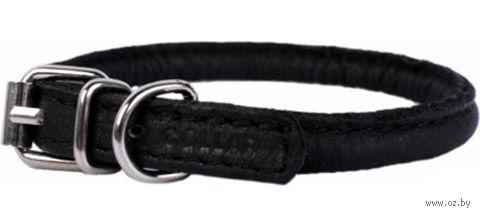 """Ошейник из натуральной кожи для длинношерстных собак """"Collar Soft"""" (39-47 см; черный) — фото, картинка"""